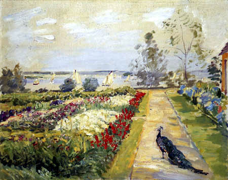Max Slevogt - Flowers garden in New-Cladow