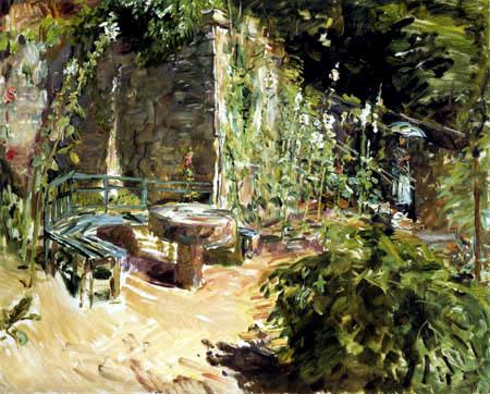 Max Slevogt - Sonniger Garten in Neukastel