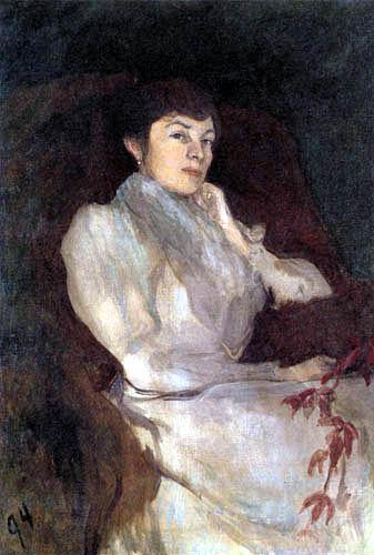 Max Slevogt - Elisabeth im grauen Kleid