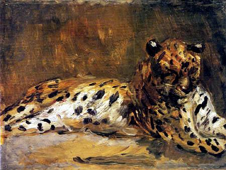 Max Slevogt - Lying Leopard