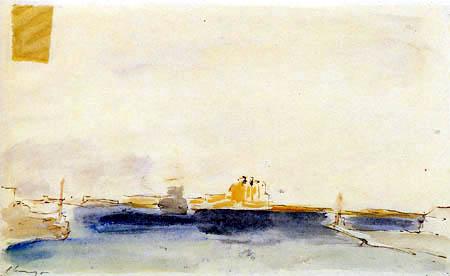 Max Slevogt - Port of Brindisi