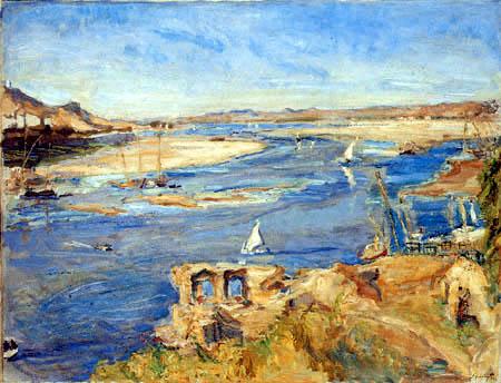 Max Slevogt - The Nile near Aswan