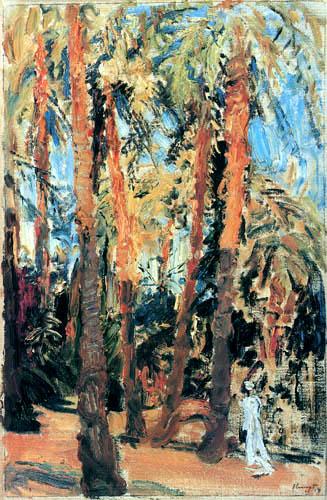 Max Slevogt - The palm garden in Luxor