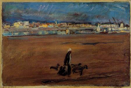 Max Slevogt - Nach dem Sonnenuntergang in Luxor