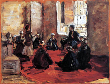 Max Slevogt - Reading in a mosque
