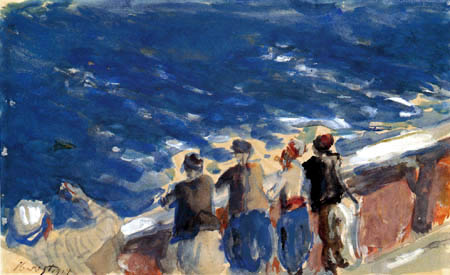 Max Slevogt - La mer bleue