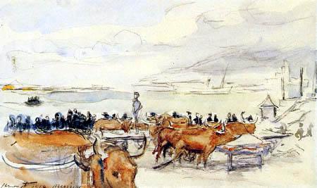Max Slevogt - Ochsen am Hafen von Messina