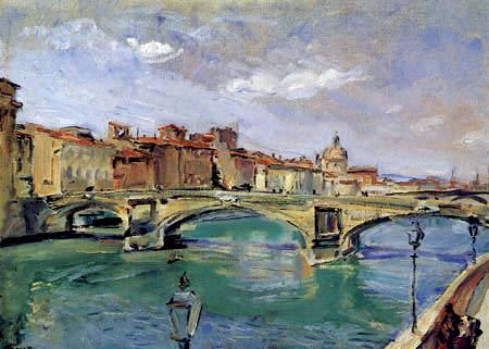 Max Slevogt - Le Ponte della Trinità, Florence