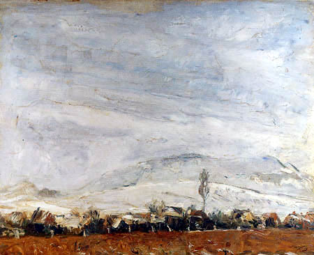 Max Slevogt - Landscape in the snow