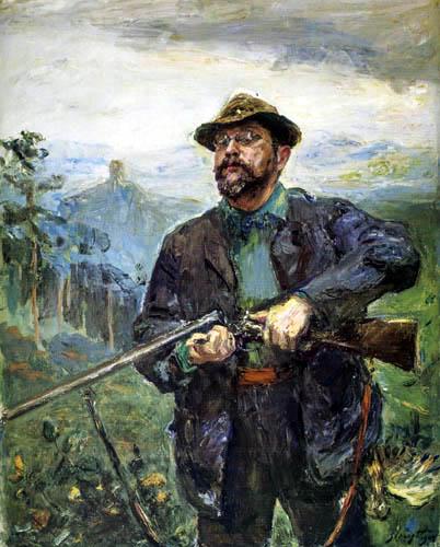 Max Slevogt - Selbstbildnis als Jäger