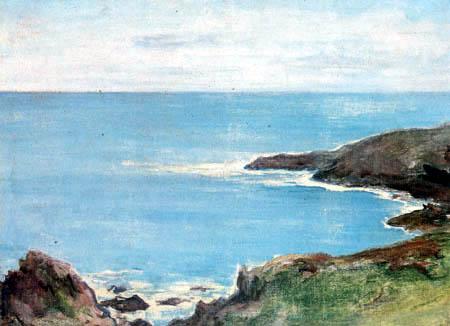Władysław Ślewiński - The sea near Doëlan