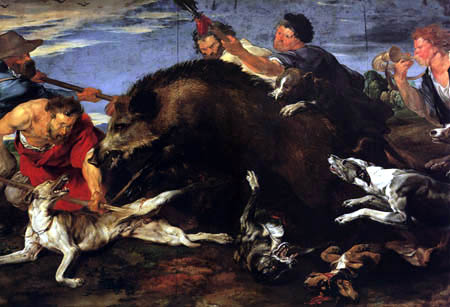 Frans Snyders (Snijders) - The boar hunt