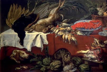 Frans Snyders (Snijders) - Stillleben mit Wild und Hummer