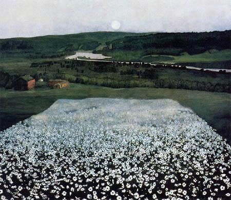 Harald Sohlberg - Blumenwiese im Norden