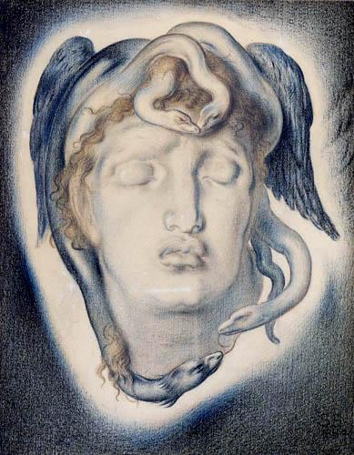 Simeon Solomon - Das Haupt der Medusa