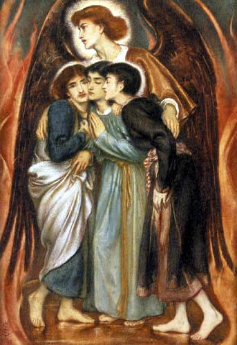 Simeon Solomon - Sadrach, Mesach und Abel-Nego im glühenden Ofen