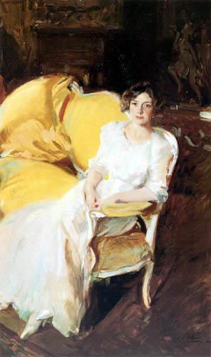 Joaquín Sorolla y Bastida - Clothilde, sitzend