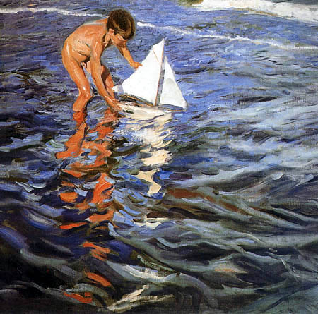 Joaquín Sorolla y Bastida - The little sail boat