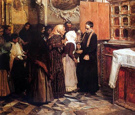 Joaquín Sorolla y Bastida - Der Kuss für die Reliquie