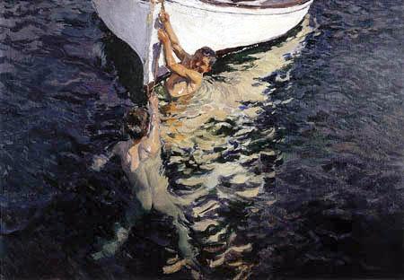 Joaquín Sorolla y Bastida - Das weiße Boot, Javea