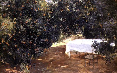 Joaquín Sorolla y Bastida - Garten mit Orangenbäumen