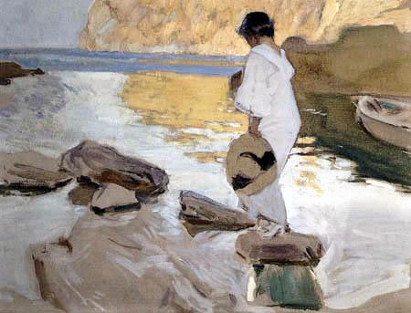 Joaquín Sorolla y Bastida - Elena in der Bucht San Vicente