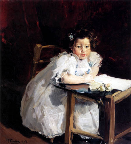 Joaquín Sorolla y Bastida - Elenita at her desk