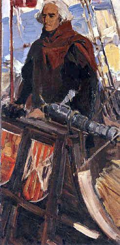 Joaquín Sorolla y Bastida - Study for 'The Departure of Christopher Columbus'