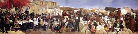 Joaquín Sorolla y Bastida - Das Brotfest, Kastilien