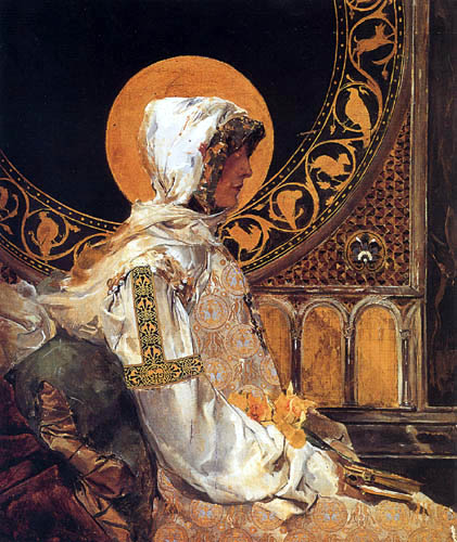 Joaquín Sorolla y Bastida - Figur einer heiligen Italienerin