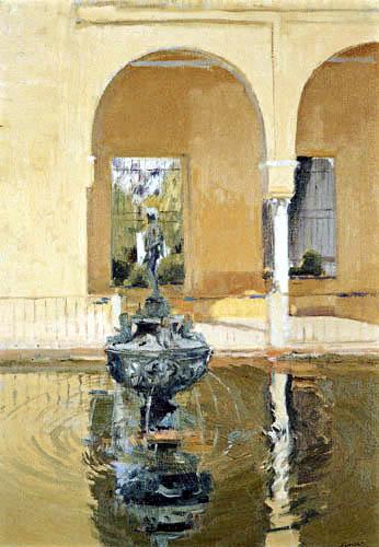 Joaquín Sorolla y Bastida - Brunnen des maurischen Königs in der Alcázar von Sevilla