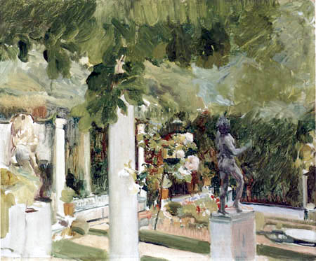 Joaquín Sorolla y Bastida - Im Garten von Sorolla´s Haus