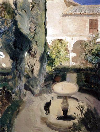 Joaquín Sorolla y Bastida - Garten Lindaraja, Die Alhambra, Granada