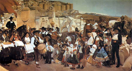 Joaquín Sorolla y Bastida - The celebration of the bread, Castilla - Detail
