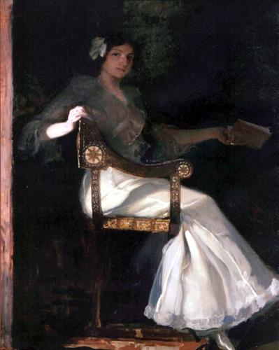 Joaquín Sorolla y Bastida - The woman of Sorolla in white dress