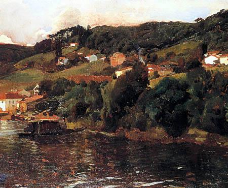 Joaquín Sorolla y Bastida - Landschaft in Asturien