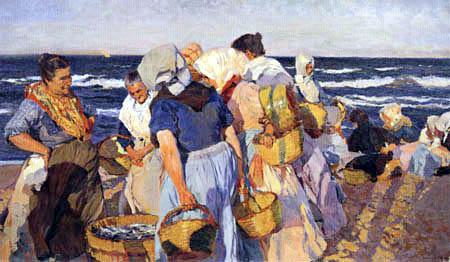 Joaquín Sorolla y Bastida - Die Sardinenverkäuferinnen