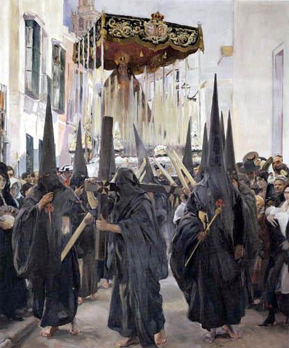 Joaquín Sorolla y Bastida - Penitents, Holy Week, Seville