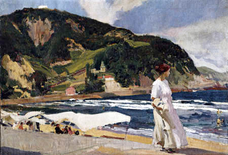 Joaquín Sorolla y Bastida - Maria on the Beach at Zarauz