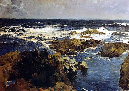 Joaquín Sorolla y Bastida - Meer und Felsen bei San Sebastián, Asturien