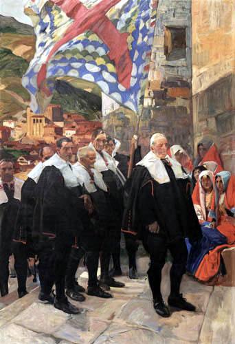 Joaquín Sorolla y Bastida - Navarra, die Grafschaft von Roncal