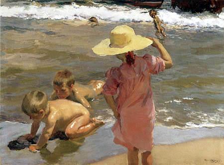 Joaquín Sorolla y Bastida - Kinder am Strand