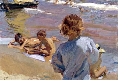 Joaquín Sorolla y Bastida - Children on the Beach, Valencia