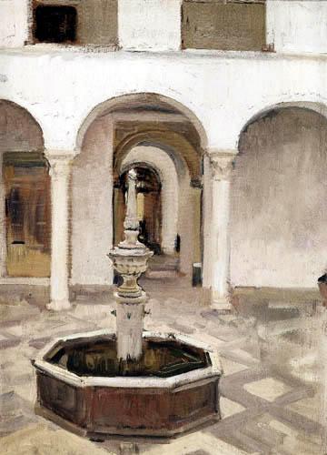 Joaquín Sorolla y Bastida - Court and Well of Seville