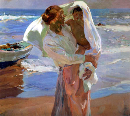 Joaquín Sorolla y Bastida - After the bath, Valencia