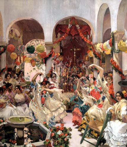 Joaquín Sorolla y Bastida - Sevilla, Der Tanz