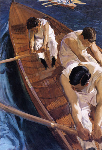Joaquín Sorolla y Bastida - In the jolly-boat