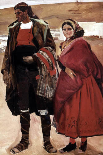 Joaquín Sorolla y Bastida - Leute aus der Mancha
