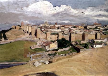Joaquín Sorolla y Bastida - Blick auf Ávila