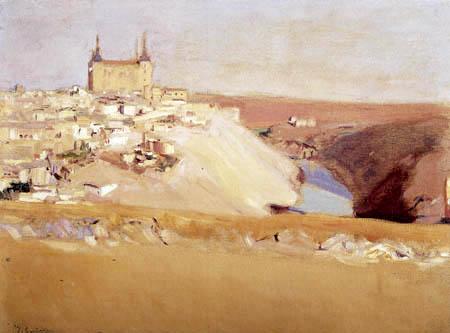 Joaquín Sorolla y Bastida - Blick auf Toledo